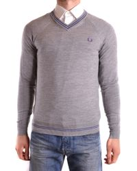 Fred Perry - Men's Mcbi128176o Grey Wool Sweater - Lyst