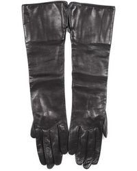 Burberry Leather Elbow Gloves - Black