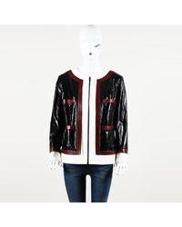 Chanel Blue Leather Jacket