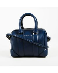 "Givenchy - Deep Blue Calfskin Leather ""micro Lucrezia"" Shoulder Bag - Lyst"