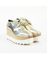 5b01691178a Lyst - Stella McCartney Faux Leather Triple Sole Platform Loafers in ...