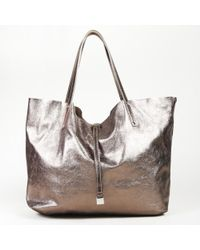 Tiffany & Co. Gold Brown Leather Reversible Tote