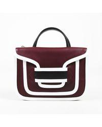 Pierre Hardy Alpha Twin Calfskin Handbag - Red
