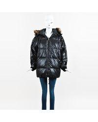 Bogner - Black Down Filled Fur Trimmed Hooded Coat - Lyst