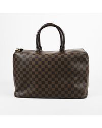 "Louis Vuitton - Damier Ebene Coated Canvas ""greenwich Pm"" Overnight Bag - Lyst"