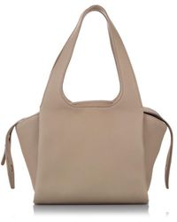 The Row Tr1 Leather Tote Bag - Brown