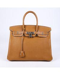 Hermès Birkin 35 Fauve Barenia Faubourg - Brown