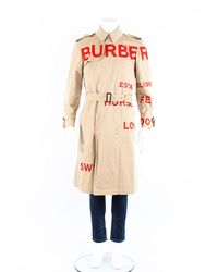 Burberry Horseferry Print Trench Coat Men's - Natural