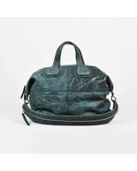 "Givenchy - ""petrol"" Green ""pepe"" Leather Medium ""nightingale"" Satchel Bag - Lyst"