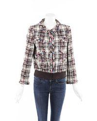 Chanel Tweed Bomber Jacket - Multicolor