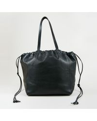 "Céline - Black ""smooth Calfskin"" Leather ""small Coulisse"" Tote - Lyst"