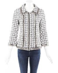 Chanel Silk Tweed Lace Jacket - Multicolour