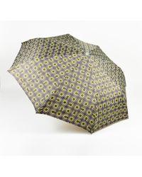 Chanel - Two Tone Green & White 'coco' Logo Print Umbrella - Lyst