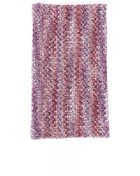 Missoni Chevron Knit Infinity Scarf - Purple