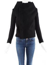 Rick Owens Black Wool Jacket Black Sz: S