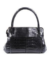 Nancy Gonzalez Crocodile Shoulder Bag - Black