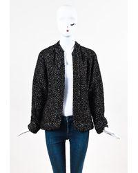 Chanel Metallic Alpaca Knit Cardigan - Black