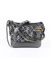 Chanel 2019 Small Gabrielle Sequin Hobo Bag - Metallic