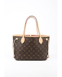 Louis Vuitton Neverfull Pm Tote Bag Brown Monogram Coated Canvas