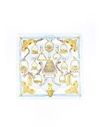 Hermès Etriers Silk Scarf - Metallic