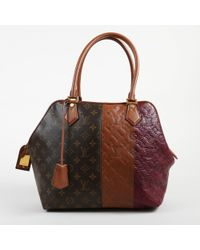 "Louis Vuitton - Multicolor Goat Leather & Coated Canvas ""bordeaux"" Tote Bag - Lyst"