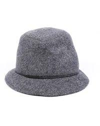 Brunello Cucinelli Wool Cashmere Hat Grey Sz: