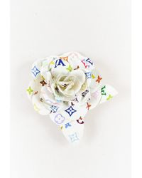 Louis Vuitton X Takashi Murakami White Monogram Multicolore Flower Brooch