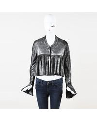 Thomas Wylde - Studded Leather Silk Jacket - Lyst