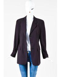 Luciano Barbera - Burgundy Blazer Jacket - Lyst