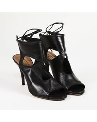 """Aquazzura - """"sexy Thing"""" Leather Booties - Lyst"""