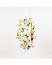 La Prestic Ouiston - Femme Equestrian Print Silk Shift Dress - Lyst