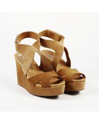 Pedro Garcia - Suede Wedge Sandals - Lyst