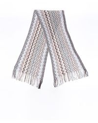 Missoni Chevron Knit Scarf - Blue
