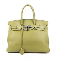 Hermès Birkin 35 Chartreuse Clemence Bag - Green