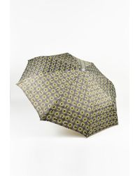 Chanel - Two Tone Green & White 'coco' Logo Print Umbrella - Lyst