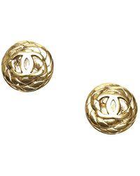 Chanel Cc Clip-on Earrings - Metallic