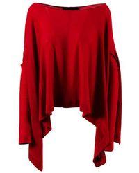 "Urban Zen - ""geisha Red"" Cashmere Draped Boat Neck Sweater - Lyst"