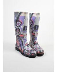 Emilio Pucci   Multicolor Geometric Print Rainboots   Lyst