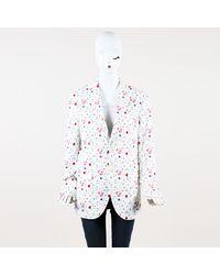 """R13 Floral Print Cotton """"summer"""" Blazer - White"""