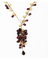 "Marco Bicego - Red Garnet Diamond & 18k Yellow Gold ""acapulco"" Necklace - Lyst"