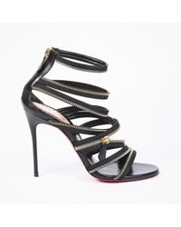 Christian Louboutin Lovabrida 100 Metallic Leather-trimmed