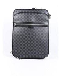 Louis Vuitton Pegase 55 Damier Graphite Suitcase - Black