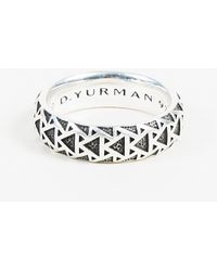 "David Yurman - Men's Sterling Silver ""frontier"" Ring - Lyst"