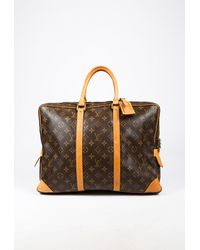 Louis Vuitton Porte-documents Voyage Brown Monogram Coated Canvas Briefcase
