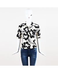 John Galliano - Vintage Floral Cashmere Top - Lyst