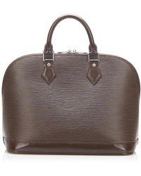 Louis Vuitton Epi Alma Pm - Brown