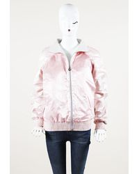 Chanel Silk Bomber Jacket - Pink