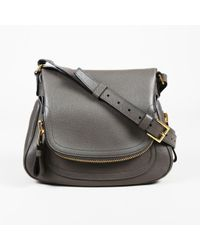 Lyst - Tom Ford Jennifer Side-Zip Leather Hobo Bag in Black f8fe2a2b95ff4