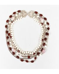 Stephen Dweck - White Red Jasper & Carnelian Stones Sterling Silver Necklace - Lyst
