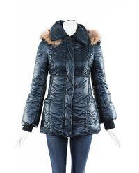 Mackage Fur Trimmed Hooded Coat Green Sz: Xxs